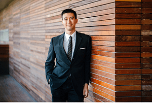 an entrepreneur dressed officially